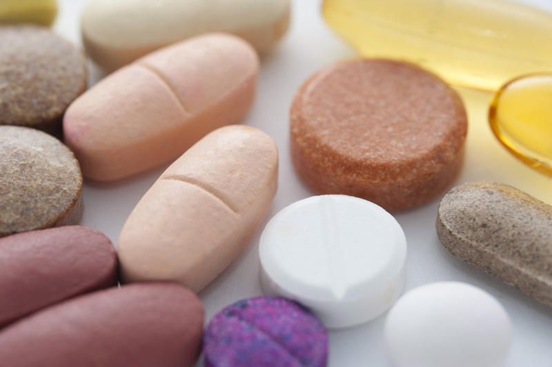 medical concepts, an assortment of pills