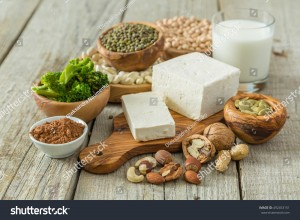 stock-photo-selection-vegan-protein-sources-on-wood-background-492453151